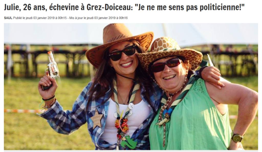 """Julie romera, 26 ans, échevine à Grez-Doiceau: """"Je ne me sens pas politicienne !"""""""